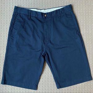 Volcom men blue chino shorts W33